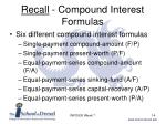 recall compound interest formulas