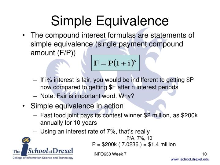 Simple Equivalence