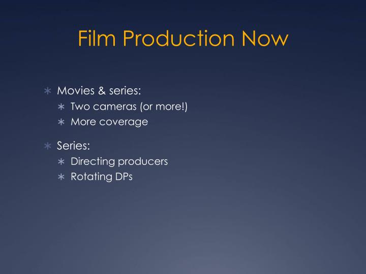 Film Production Now