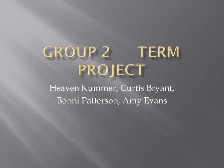 group 2 term project
