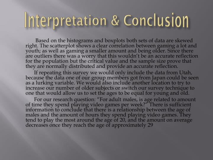 Interpretation & Conclusion