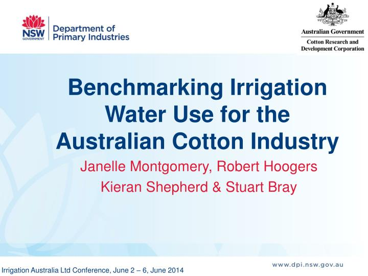 Benchmarking Irrigation Water Use for the Australian Cotton Industry