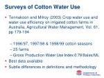 surveys of cotton water use1