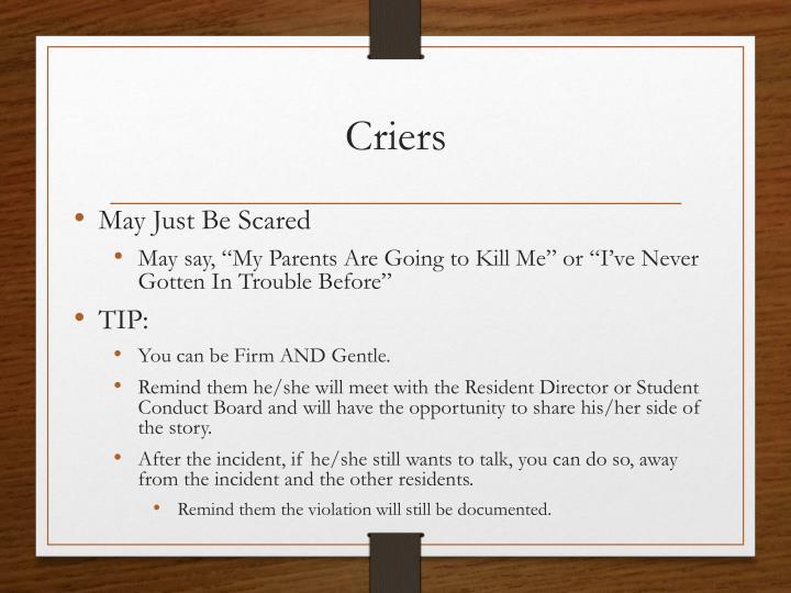 Criers