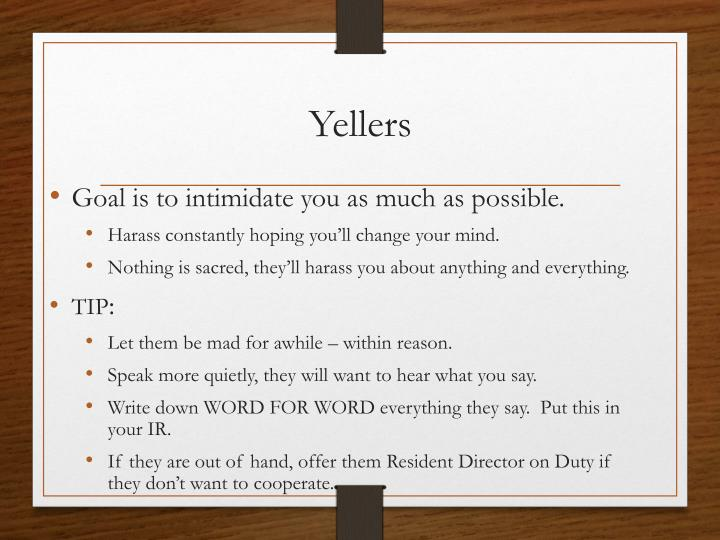 Yellers