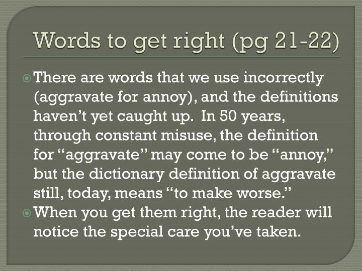 Words to get