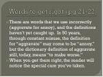 words to get right pg 21 22