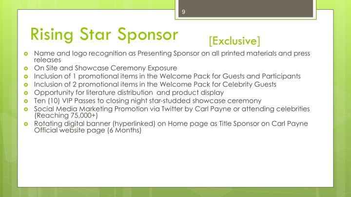 Rising Star Sponsor