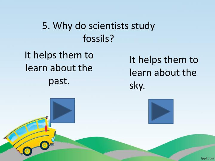 5. Why do scientists study fossils?