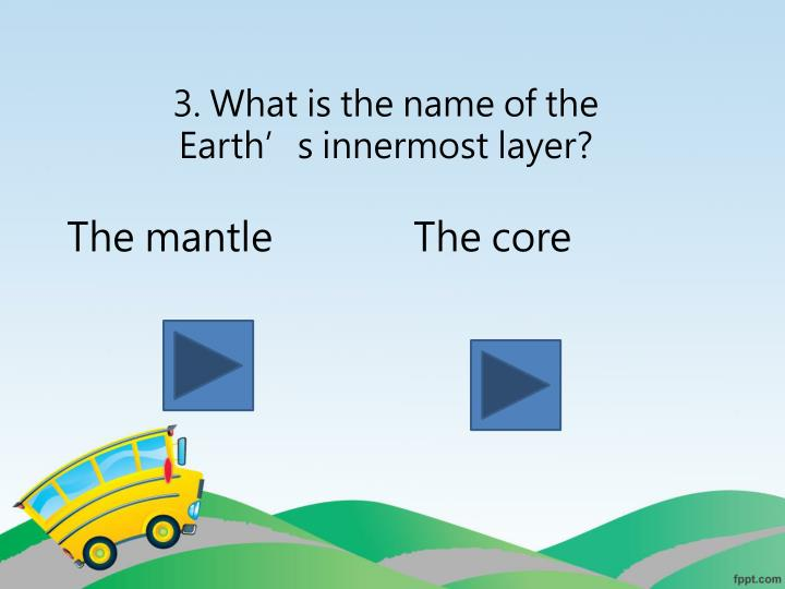 3. What is the name of the Earth's innermost layer?