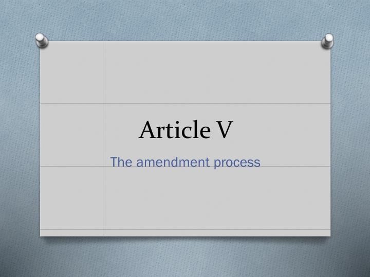 Article V