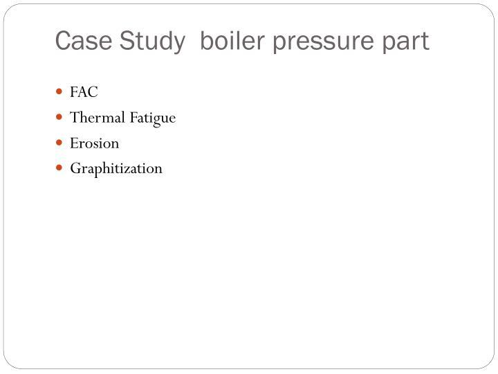 Case Study  boiler pressure