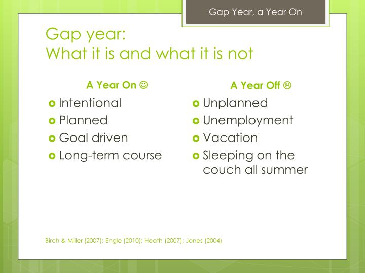 Gap year what it is and what it is not