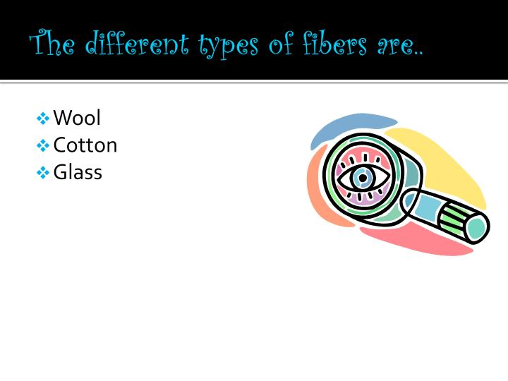 The different types of fibers are..