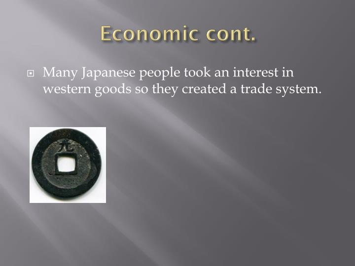 Economic cont.