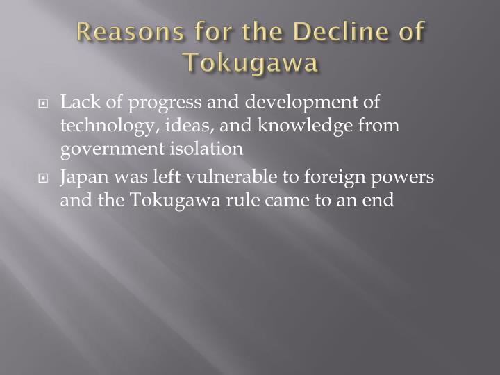 Reasons for the Decline of Tokugawa