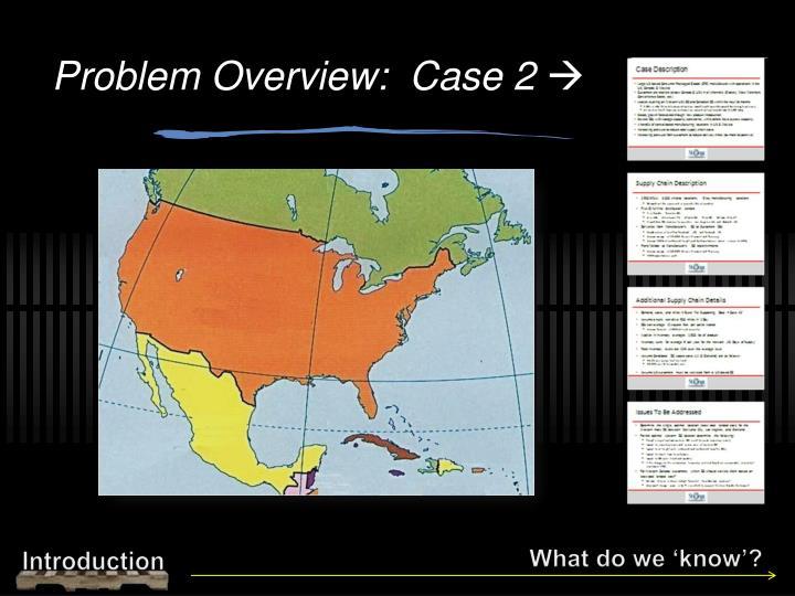 Problem Overview:  Case 2