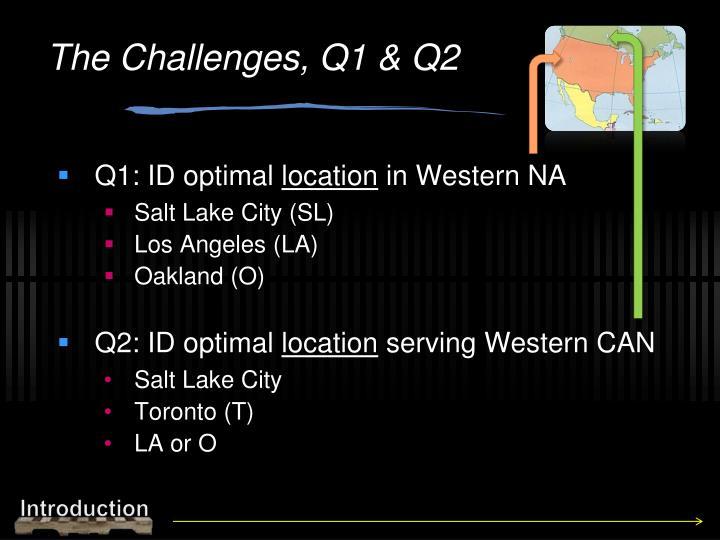 The Challenges, Q1 & Q2