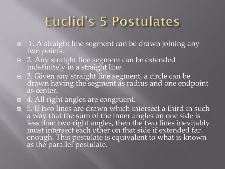 Euclid's 5 Postulates