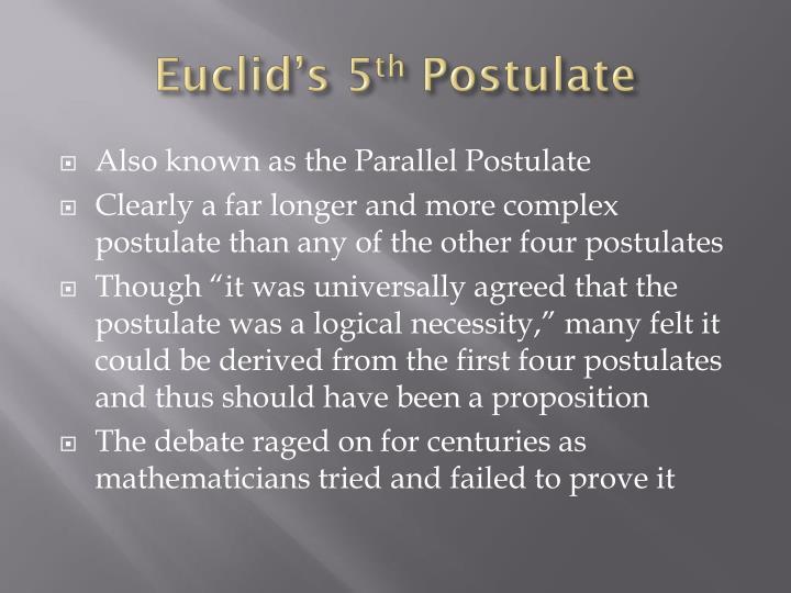 Euclid's 5