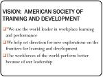 vision american society of training and development