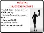 vision success factors