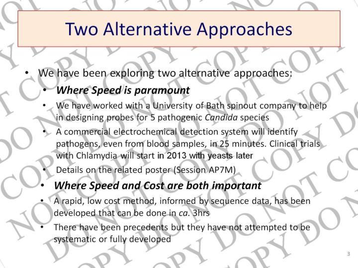 Two alternative approaches