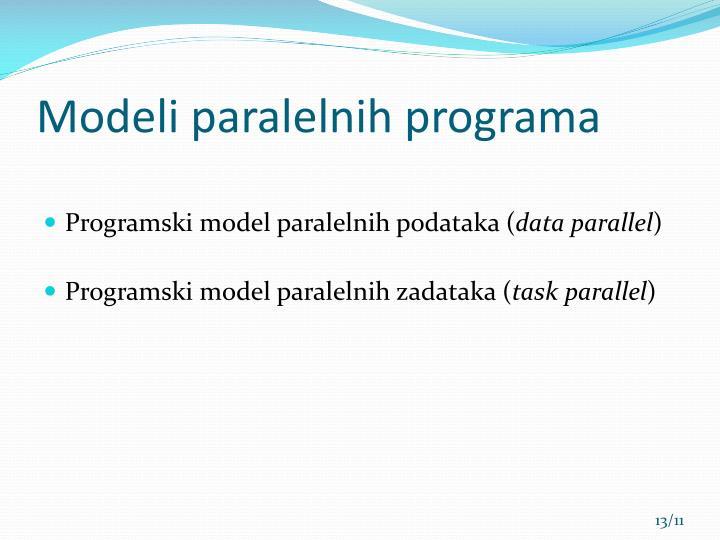 Modeli paralelnih programa