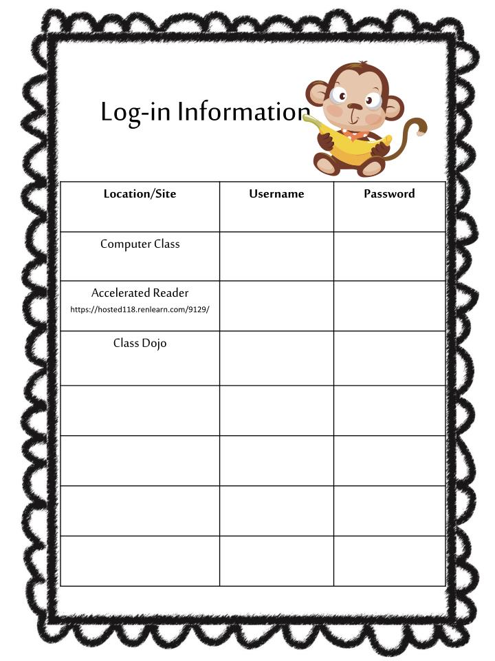 Log-in Information