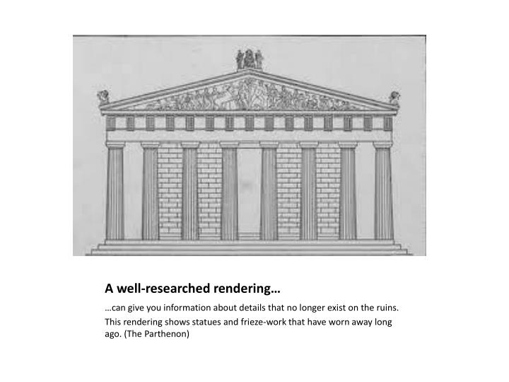 A well-researched rendering…