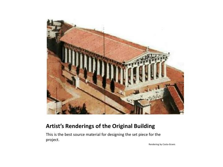 Artist's Renderings of the Original Building