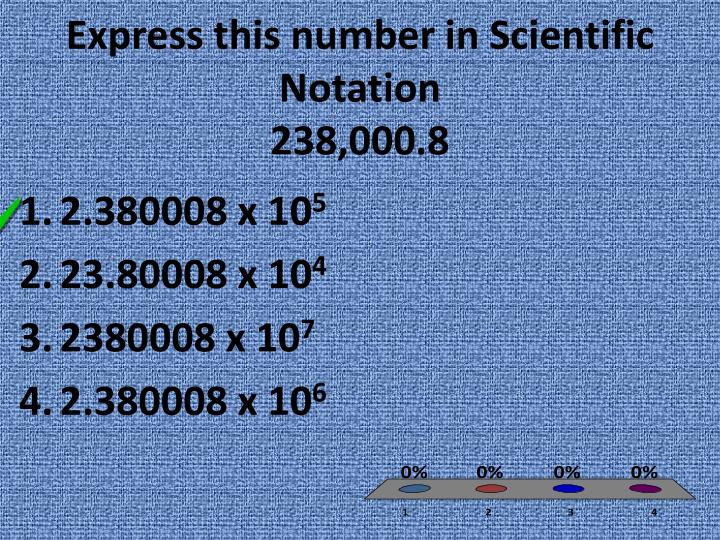 Express this number in Scientific Notation