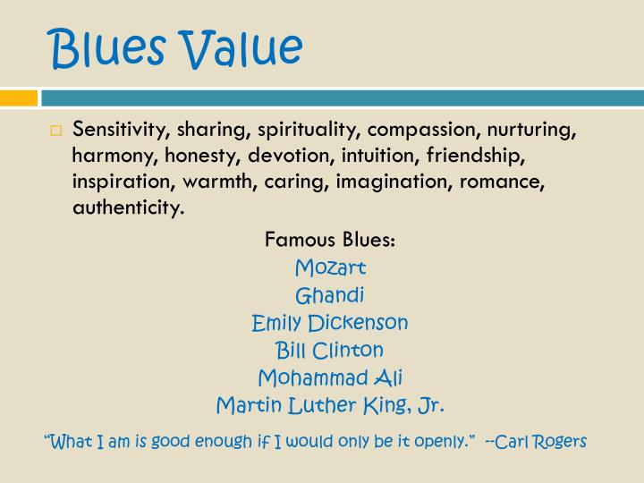 Blues Value