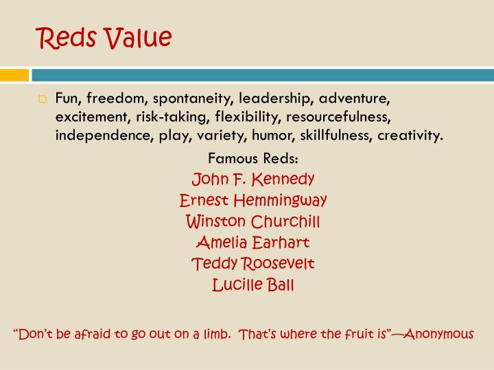 Reds Value