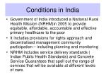 conditions in india