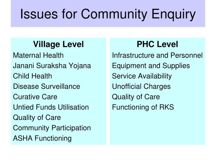 Village Level