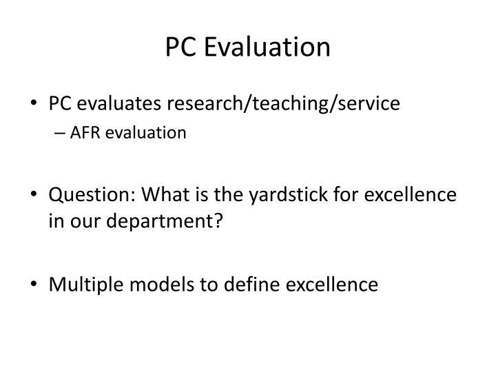 PC Evaluation
