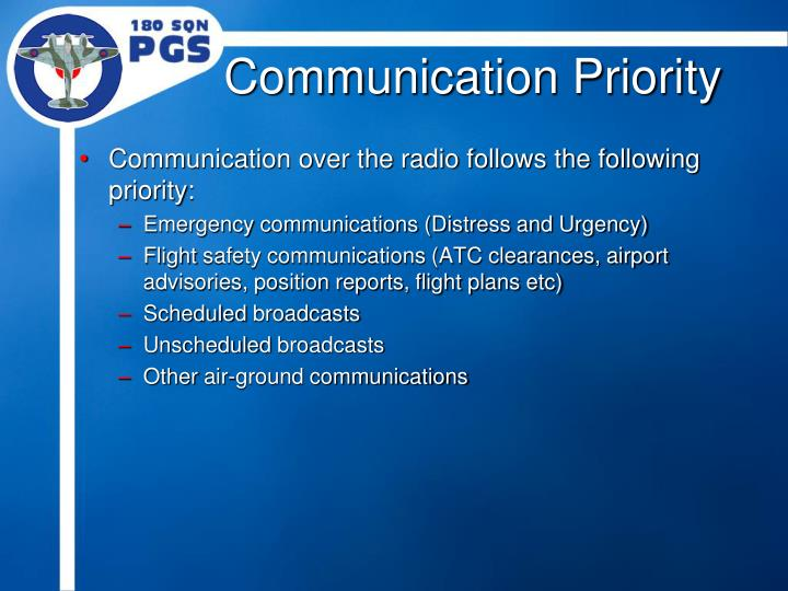 Communication Priority