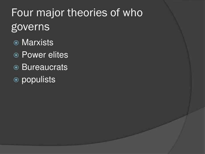 Four major theories of who governs