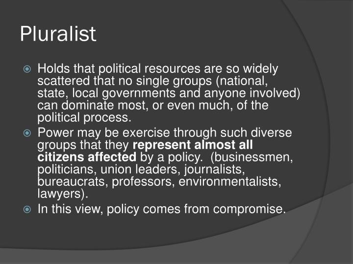 Pluralist
