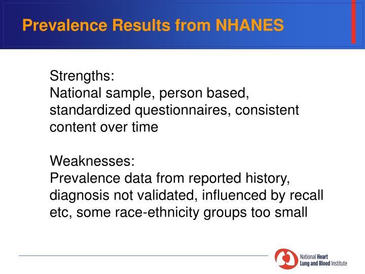 Prevalence Results