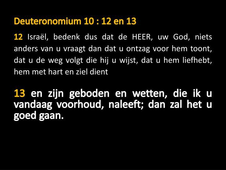 Deuteronomium 10 : 12 en 13