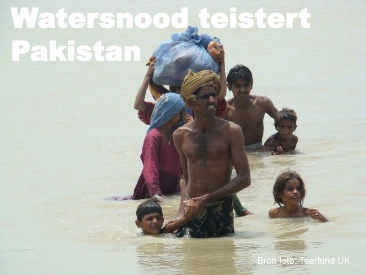 Watersnood teistert Pakistan