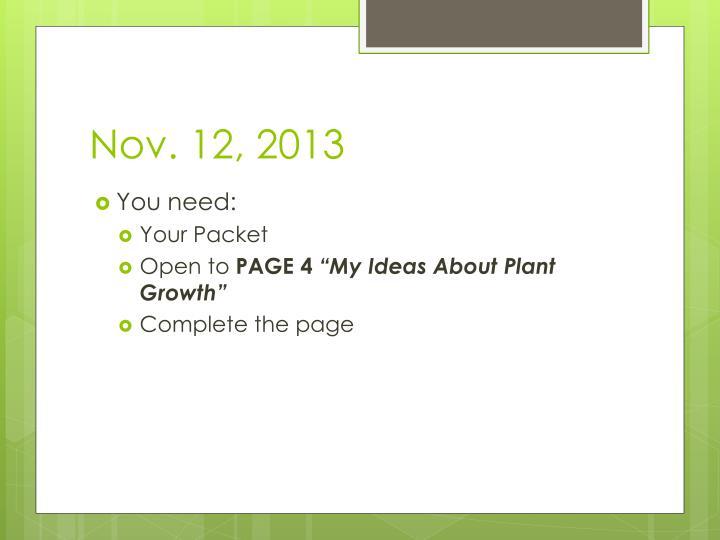 Nov. 12, 2013
