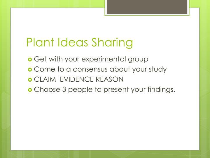 Plant Ideas Sharing