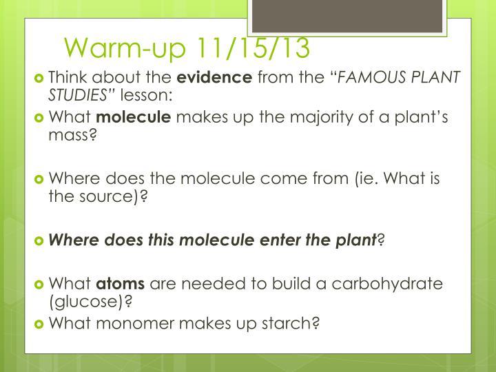 Warm-up 11/15/13