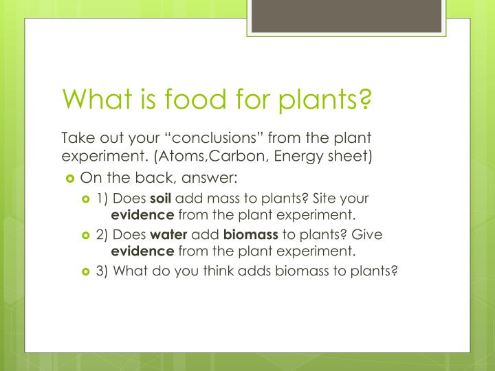 What is food for plants?