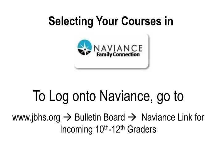 Selecting your courses in