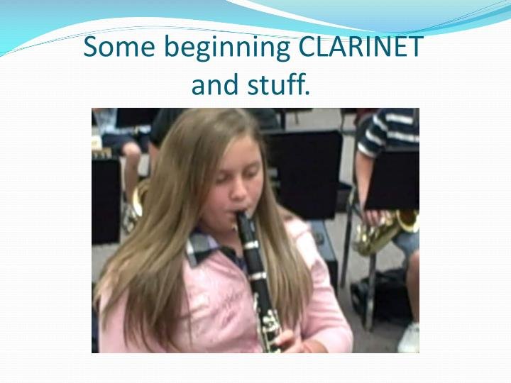 Some beginning CLARINET
