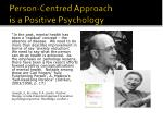 person centred approach is a positive psychology